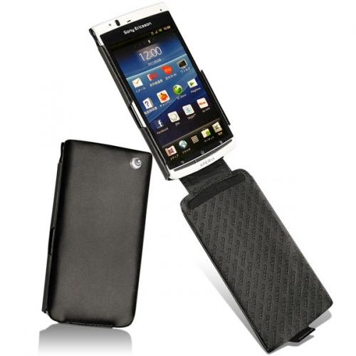 Sony Ericsson Xperia Acro  leather case - Noir ( Nappa - Black )