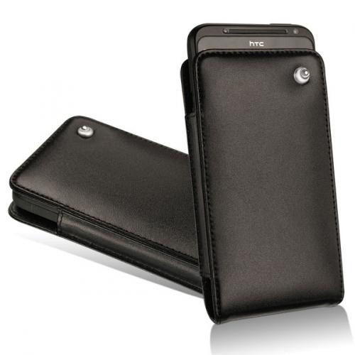 Housse cuir HTC Evo 3D - Noir ( Nappa - Black )