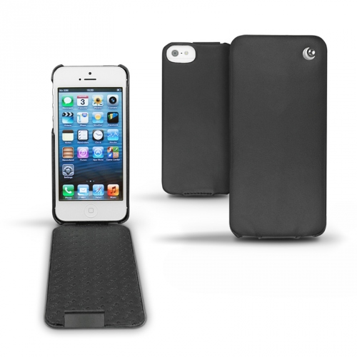 Apple iPhone 5  leather case - Noir ( Nappa - Black )