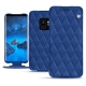Samsung Galaxy S9 leather case - Bleu océan - Couture ( Nappa - Pantone 293C )