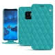 Housse cuir Samsung Galaxy S9 - Bleu fluo - Couture