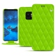 Samsung Galaxy S9 leather case - Vert fluo - Couture