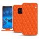 Samsung Galaxy S9 leather case - Orange fluo - Couture