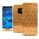 Housse cuir Samsung Galaxy S9 - Or Maïa - Couture
