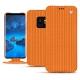 Housse cuir Samsung Galaxy S9 - Abaca arancio