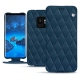 Samsung Galaxy S9 leather case - Blu mediterran - Couture