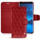 硬质真皮保护套 Samsung Galaxy S9 - Rouge - Couture ( Nappa - Pantone 199C )