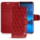 Housse cuir Samsung Galaxy S9 - Rouge - Couture ( Nappa - Pantone 199C )