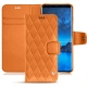 Samsung Galaxy S9 leather case - Orange - Couture ( Nappa - Pantone 1495U )