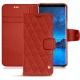 가죽 커버 Samsung Galaxy S9 - Papaye - Couture ( Pantone 180C )