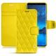 가죽 커버 Samsung Galaxy S9 - Jaune fluo - Couture