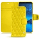 Housse cuir Samsung Galaxy S9 - Jaune fluo - Couture