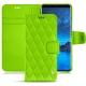 Custodia in pelle Samsung Galaxy S9 - Vert fluo - Couture