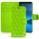 Housse cuir Samsung Galaxy S9 - Vert fluo - Couture