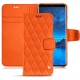 Housse cuir Samsung Galaxy S9 - Orange fluo - Couture