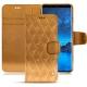 Funda de piel Samsung Galaxy S9 - Or Maïa - Couture