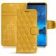 가죽 커버 Samsung Galaxy S9 - Jaune soulèu - Couture