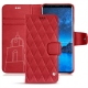 Samsung Galaxy S9 leather case - Rouge troupelenc - Couture