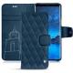 Samsung Galaxy S9 leather case - Blu mediterran - Couture