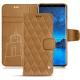 Housse cuir Samsung Galaxy S9 - Castan esparciate - Couture