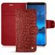 Samsung Galaxy S9 leather case - Autruche ciliegia
