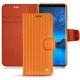 Samsung Galaxy S9 leather case - Abaca arancio