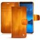 Samsung Galaxy S9 leather case - Orange Patine