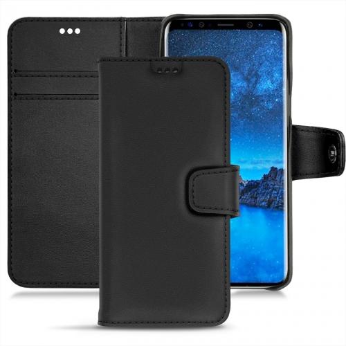 Samsung Galaxy S9 leather case - Noir PU