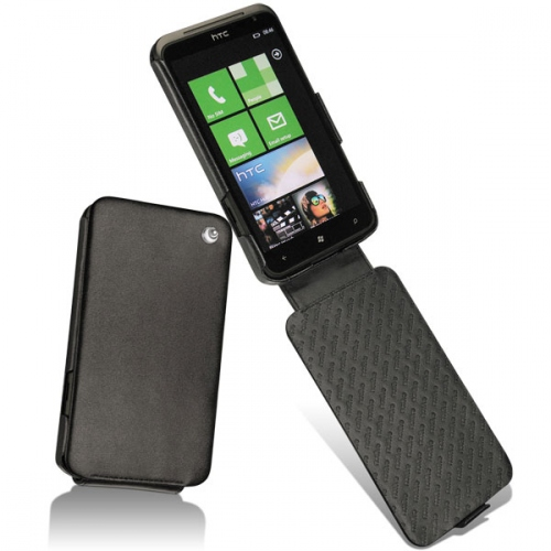 HTC Titan  leather case - Noir ( Nappa - Black )