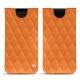 Pochette cuir Samsung Galaxy S9 - Orange - Couture ( Nappa - Pantone 1495U )