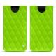 Pochette cuir Samsung Galaxy S9 - Vert fluo - Couture