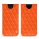 Pochette cuir Samsung Galaxy S9 - Orange fluo - Couture