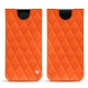 Samsung Galaxy S9 leather pouch - Orange fluo - Couture