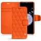 Housse cuir Samsung Galaxy S9+ - Orange fluo - Couture