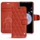 Samsung Galaxy S9+ leather case - Arange clouquié - Couture