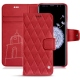Samsung Galaxy S9+ leather case - Rouge troupelenc - Couture