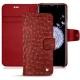 Samsung Galaxy S9+ leather case - Autruche ciliegia