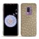 Coque cuir Samsung Galaxy S9+ - Autruche desert
