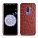 Coque cuir Samsung Galaxy S9+ - Autruche ciliegia