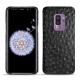 Coque cuir Samsung Galaxy S9+ - Autruche nero