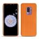 Coque cuir Samsung Galaxy S9+ - Abaca arancio