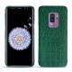 Coque cuir Samsung Galaxy S9+ - Crocodile pino