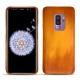 Samsung Galaxy S9+ leather cover - Orange Patine