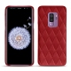 Coque cuir Samsung Galaxy S9+ - Rouge - Couture ( Nappa - Pantone 199C )