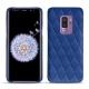 Coque cuir Samsung Galaxy S9+ - Bleu océan - Couture ( Nappa - Pantone 293C )