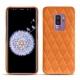 Coque cuir Samsung Galaxy S9+ - Orange - Couture ( Nappa - Pantone 1495U )