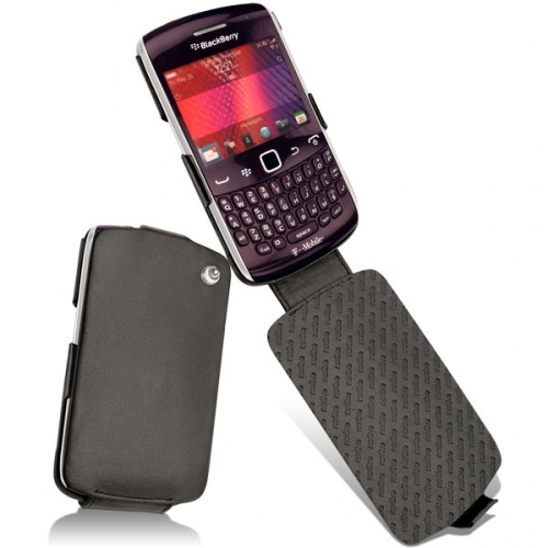 BlackBerry Curve 9350 - 9360 - 9370  leather case - Noir ( Nappa - Black )