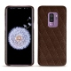 Samsung Galaxy S9+ leather cover - Châtaigne - Couture ( Pantone 476C )