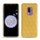 Coque cuir Samsung Galaxy S9+ - Mimosa - Couture ( Pantone 141C )