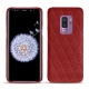 Coque cuir Samsung Galaxy S9+ - Tomate - Couture ( Pantone 187C )